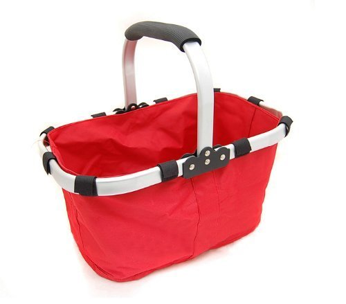 Fabric Lightweight Insulated Foldable Picnic Tote Basket, with