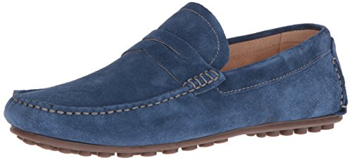 Florsheim Men's Denison Driver Penny Loafer, Blue Suede, 11.5 D (Driver Loafer)