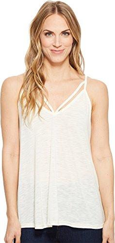 Stetson Women's 1582 Rayon Jersey Sleeveless Kint Strappy Tank Top White (Strappy Jersey Top)