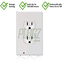LED Outlet Cover Outlet Guide Light, Outlet Night Light, Night Light - LED Outlet Cover Guide Light By Plugz Energy Efficient, motion sensor, No Wires Or Batteries, Frees Outlets, Installs In Seconds