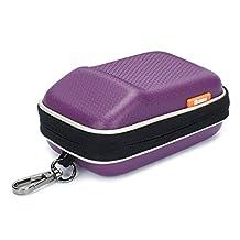 Purple Hard Shock Resistant Compact Digital Camera Case For CANON PowerShot SX720 HS G9 X Nikon COOLPIX A900 W100 Panasonic Lumix DMC TZ80 TZ70 SONY Cyber-Shot DSC WX500 HX90 HX60 RX100 SAMSUNG NX mini