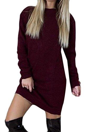 Sleeve Bodycon Womens Dress Lace Comfy Stylish Club Fuchsia Long Backless Sexy wfOO8xqEC
