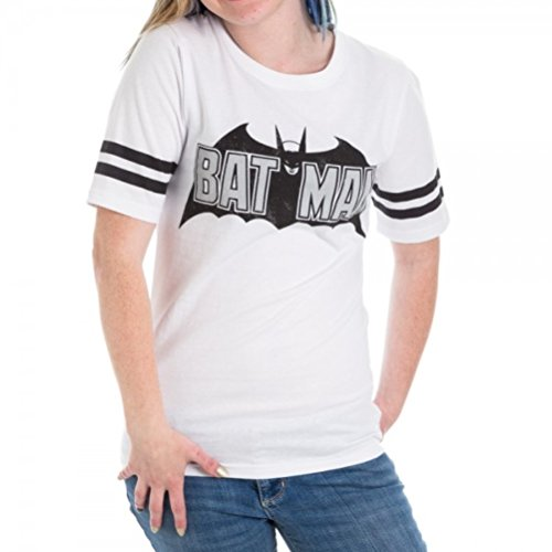 Bioworld Batman Foil Logo White Hockey Juniors T-Shirt