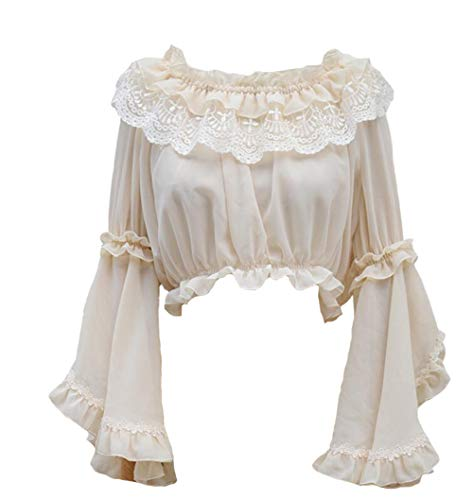 Smiling Angel Girls Sweet Lolita Blouse (One Size, Apricot)