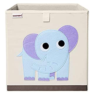 DODYMPS Foldable Animal Toy Storage Bins/Cube/Box/Chest/Organizer for Kids & Nursery, 13 inch (Elephant)