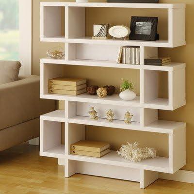 Celio Three-Tier Bookcase/Display Cabinet