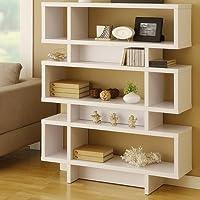 Celio Three-Tier Bookcase / Display Cabinet in Matte White