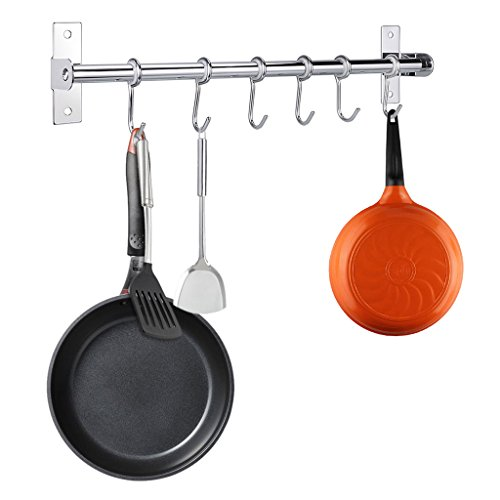 Sumnacon Pot Pan Rack, 15.7 Inch Wall Mounted Stainless Stee