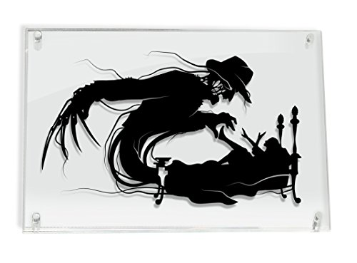 Freddy Krueger Nightmare on Elm Street silhouette - hand cut paper art