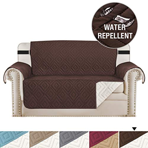 - H.VERSAILTEX Quilted Sofa Protector Pet Friendly Reversible Furniture Sofa Protector for Loveseat, Features Protect from Pets,Seat Width Up to 46