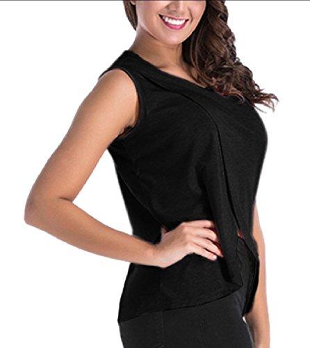 危険な風が強い試みるTootess Women's Cotton Split Comfort Oversized Basic Nursing Camisole