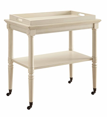 ACME Frisco Antique White Tray Table