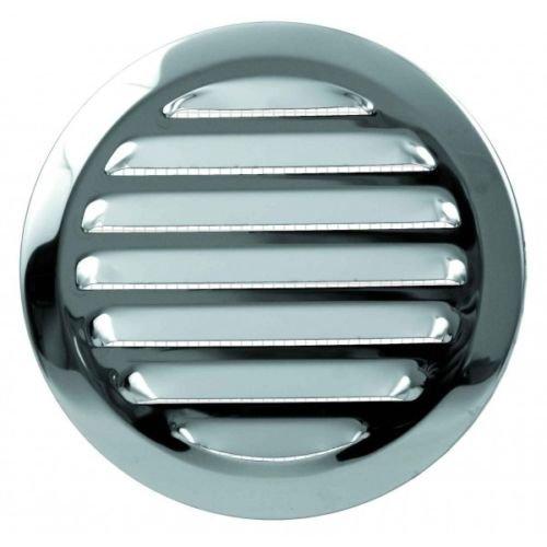 en acier inoxydable pour conduits da/ération ronde 125/mm//12,7/cm avec conduit//connexion Spigot//Col//Bride et moustiquaire//Net//Moustiquaire en maille en m/étal Grille da/ération 101S
