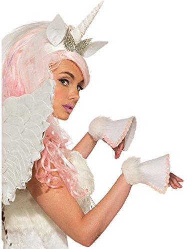 Forum Novelties 80425 White Unicorn Hooves Costume Accessory (2 Pieces), One Size, Multicolor
