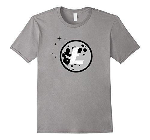 Litecoin Moon Logo Cryptocurrency T-Shirt