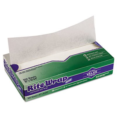 DXERW106 - Rite-Wrap Interfolded Lightweight Dry Waxed Sheets