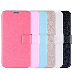 QYF Duplex Silk Pattern Leather Full Body Case with Card Slot for Samsung S5 I9600 (Assorted Colors) , Black