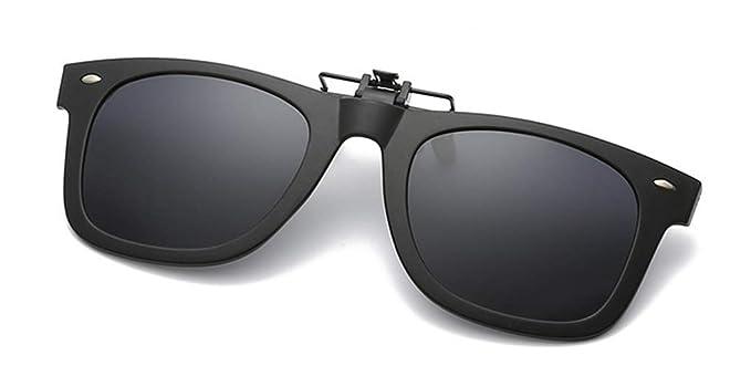 Gafas de Sol Clip on Gafas de sol polarizadas con flip up Gafas Clip polarizadas UV400 para hombre y mujer, ajuste cómodo y seguro sobre gafas de sol ...