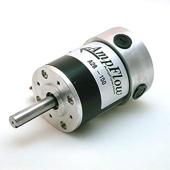 Ampflow a28 150 brushed electric motor 12v 24v or 36 vdc for 6000 rpm ac motor