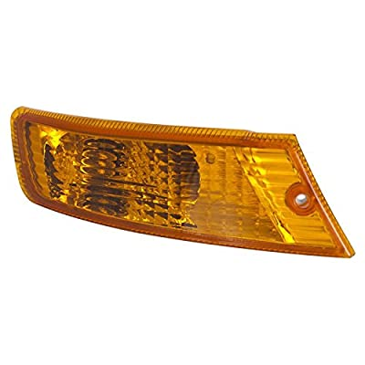 CarPartsDepot, Passenger Right Side Amber Turn Signal Marker Light Parking Lamp RH, JP30066A1R CH2521143 55156766AD: Automotive