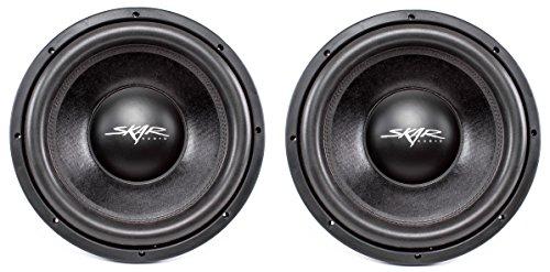(2) Skar Audio DDX-12 D4 12″ 1500W Max Power Dual 4 Car Subwoofer