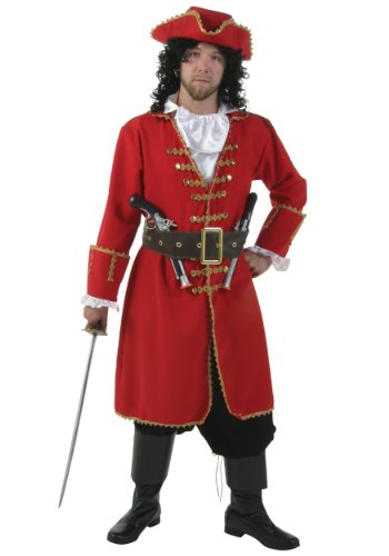 Plus Size Captain Blackheart Costume - 2X - Captain Morgan Pirate