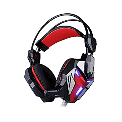 Darkiron N 2015 New 3.5mm Over Ear Stereo Gaming Headset with In-line Wheel Control for Volume and Mic Perfect for Pc Games and Listening Music