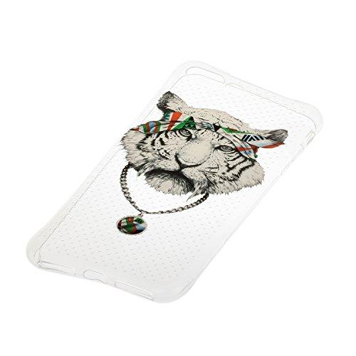 Voguecase® für Apple iPhone 7 Plus 5.5 hülle, Schutzhülle / Case / Cover / Hülle / TPU Gel Skin (Durchstochen-Tiger-kopf 01) + Gratis Universal Eingabestift