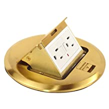 Brass Floor Box Kit With Pop-Up 20 Amp Gfci Receptacle-1 per case