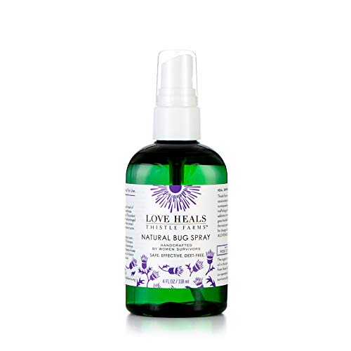 Thistle Farms Natural Deet-Free Bug Spray, Mosquito & Insect Repellent with Organic Rose Geranium Essential Oils made by Women Survivors (Best Essential Oils For Bug Repellent)