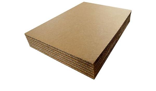 A3 420 mm x 297 mm cartón hojas de papel de corrugado separadores para archivador para decorar de sujeción para tabla de QTY de almohadillas de 50 hojas de ...