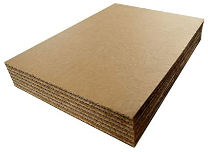 A1 841mm x 594mm Thick Double Wall Cardboard Corrugated Sheets Pads  Dividers Art Craft Board QTY 10 Sheets