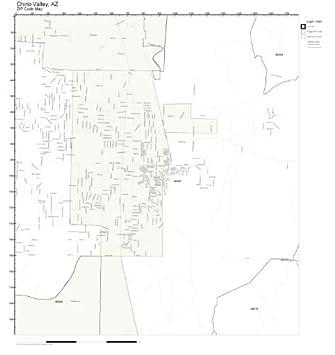 Amazon.com: ZIP Code Wall Map of Chino Valley, AZ ZIP Code Map Not