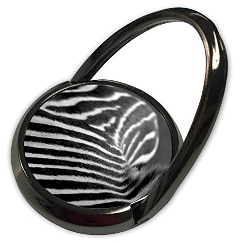3dRose Stamp City - Animals - Photograph of a Zebras Back in Black and White. A mountian of Stripes. - Phone Ring ()