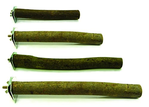 YML P12 Lot Of 2 Single Bolt Smooth Finished Wooden Perch Fo