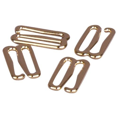 Porcelynne Gold Metal Alloy Replacement Bra Strap Slide Hook - 3/8