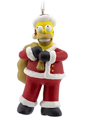 (The Simpsons Homer Simpson Santa Christmas Ornament)