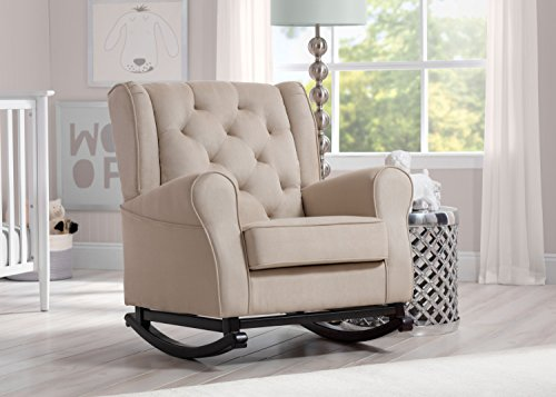Delta Furniture Emma Upholstered Rocking Chair, Ecru by Delta Furniture (Image #4)