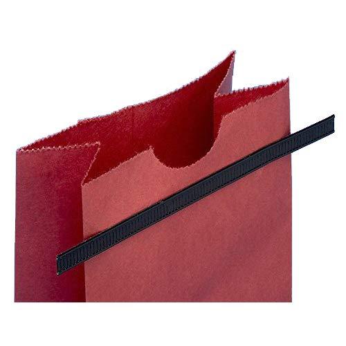 ULINE Resealer Peel and Stick Tie Black, 5.5'' Length | 1000/Case by ULINE (Image #2)