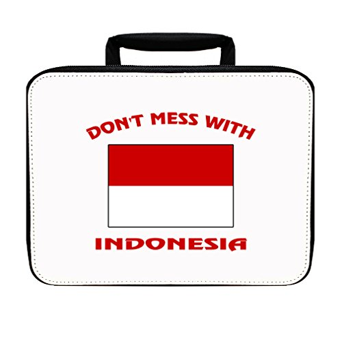 Don't Mess With Indonesia Insulated Lunch Box Bag by Style in Print