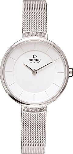 OBAKU watch two stitches rhinestone V177LECIMC Ladies