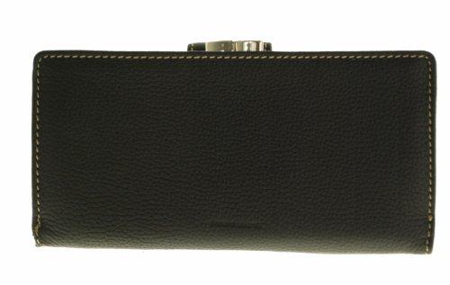 Frame Wallet - Mundi Genuine Leather Rio Lea Frame Checkbook Black Wallet