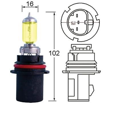 Optilux Hella H71070602 XY Series HB4 9006 Xenon Yellow Halogen Bulbs, 12V, 55W, 2 Pack: Automotive