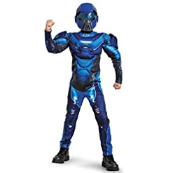 Spartan Classic Muscle Halo Microsoft Costume, Small/4-6, Blue