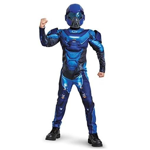 Spartan Classic Muscle Halo Microsoft Costume, Small/4-6, Blue