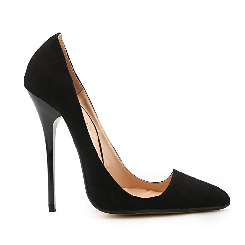 With Casual Women L Shoe and Party a Single Black Thin Summer Size Mouth Dress Large YC Sandals Evening Suede Shallow Pointed Spring STqwpOrT5