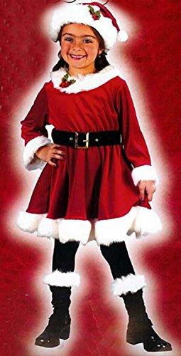 Little Miss Santa 4-Piece Girl's Christmas Costume Size 24 Months - 2T #7568