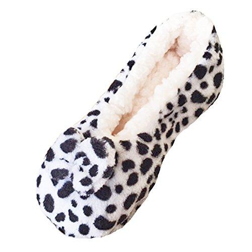 Damen-Frauen Tootsies Plush Animal Print Hausschuhe One Size, um 37-41 passen Schwarz