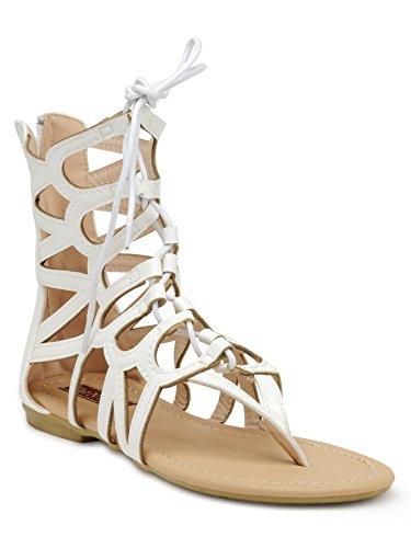 Flat n Heels White Sandals sale hot sale cheap exclusive KlzV1