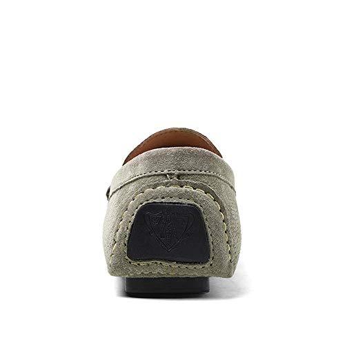 Slip Anni Uomo Casual Mostrato on Kaki Mostrato Comodi warm Taglia Stile  Unica colore Britannico Da ... 47d1bde9219